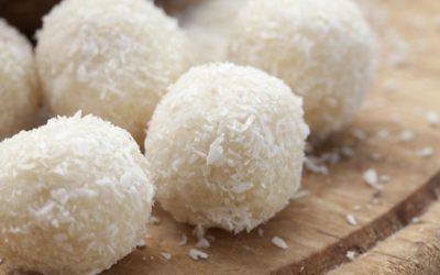 Palline di cocco e pistacchio
