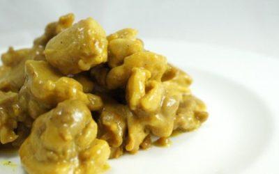 Bocconcini di pollo al curry light